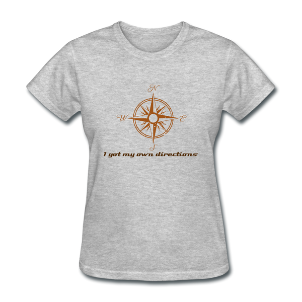 Directions Women's T-Shirt - heather gray