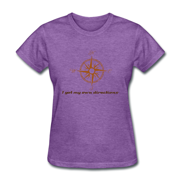Directions Women's T-Shirt - purple heather