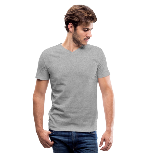 Men's V-Neck T-Shirt by Canvas - heather gray