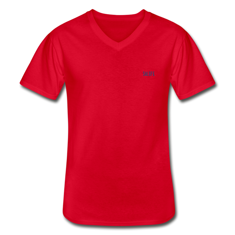 Men's V-Neck T-Shirt - red