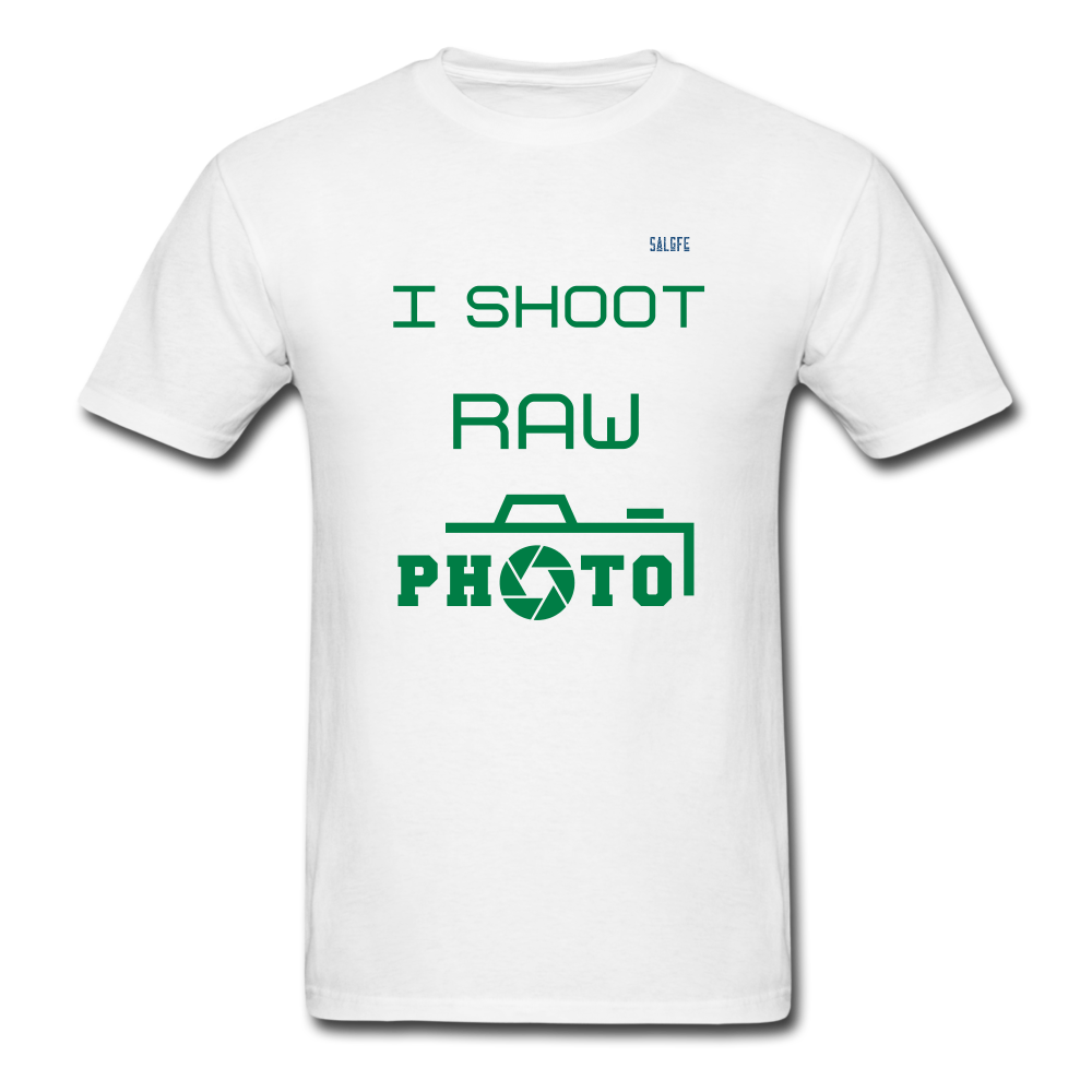 I Shoot Raw Men's T-Shirt - white