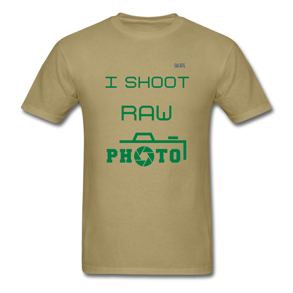I Shoot Raw Men's T-Shirt - khaki