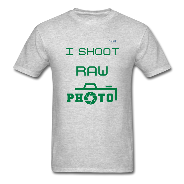 I Shoot Raw Men's T-Shirt - heather gray