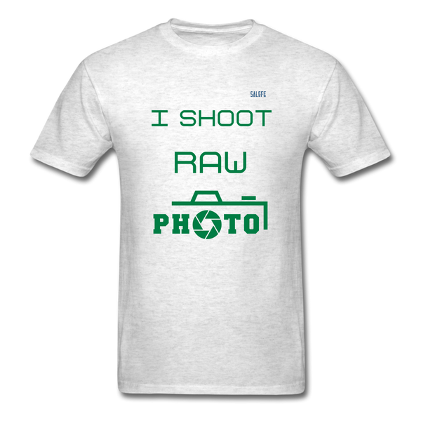 I Shoot Raw Men's T-Shirt - light heather gray