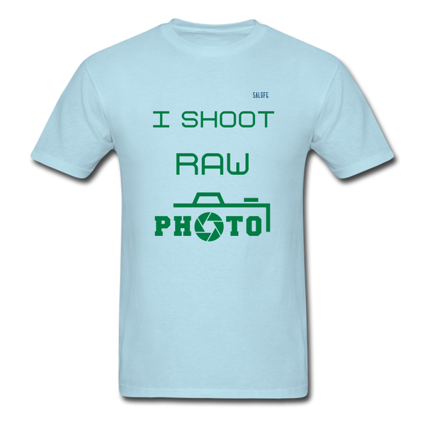 I Shoot Raw Men's T-Shirt - powder blue