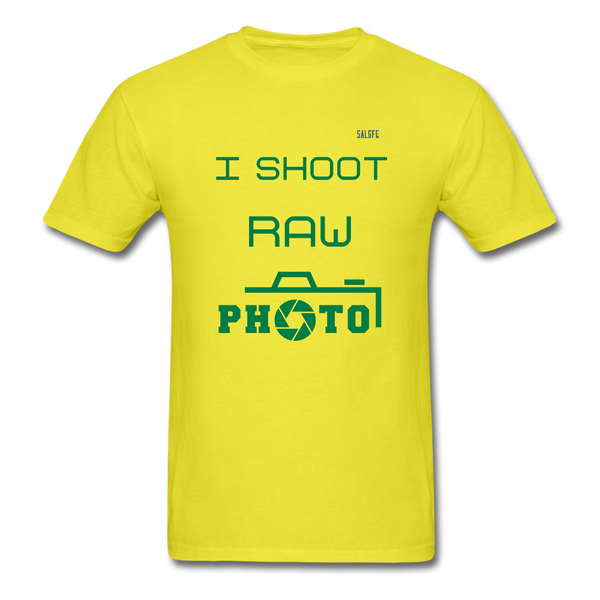 I Shoot Raw Men's T-Shirt - yellow