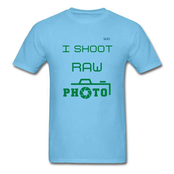 I Shoot Raw Men's T-Shirt - aquatic blue