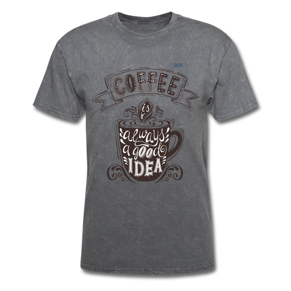 Coffee Men's T-Shirt - mineral charcoal gray