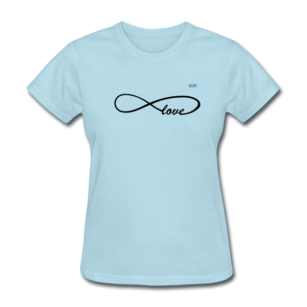 Love Women's T-Shirt - powder blue