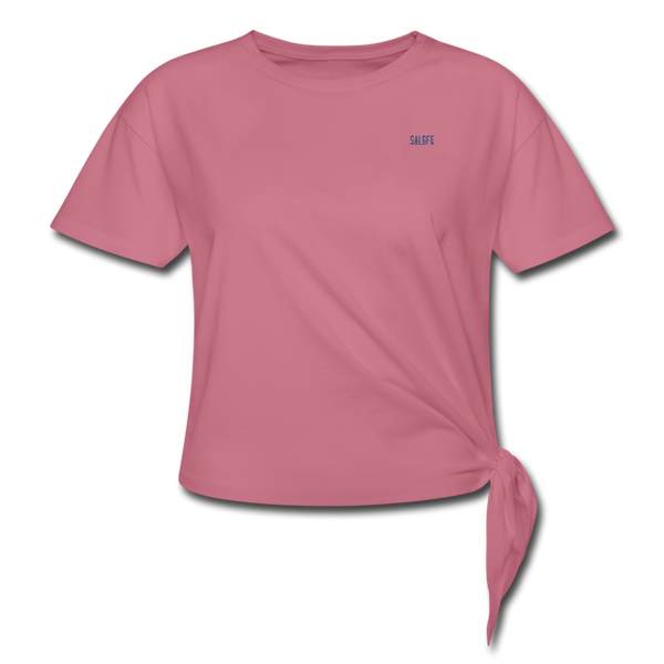 Women's Knotted T-Shirt - mauve