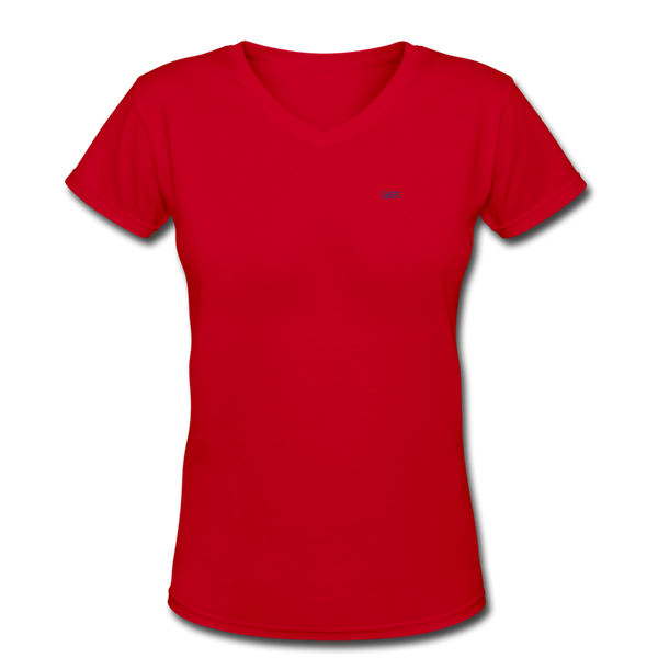 Women's V-Neck T-Shirt - red