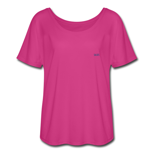 Women's Flowy T-Shirt - dark pink