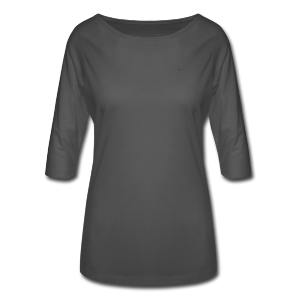 Women's 3/4 Sleeve Shirt - charcoal