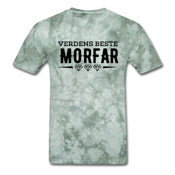 Morfar Men's T-Shirt - military green tie dye