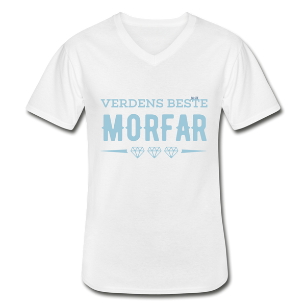 Morfar Men's V-Neck T-Shirt - white