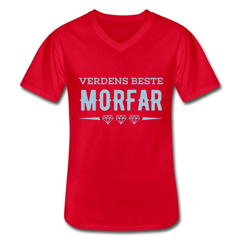Morfar Men's V-Neck T-Shirt - red