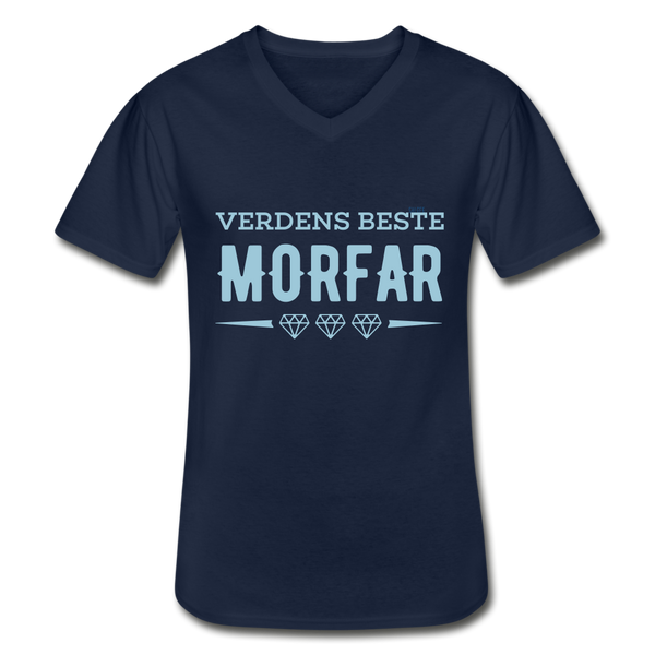Morfar Men's V-Neck T-Shirt - navy