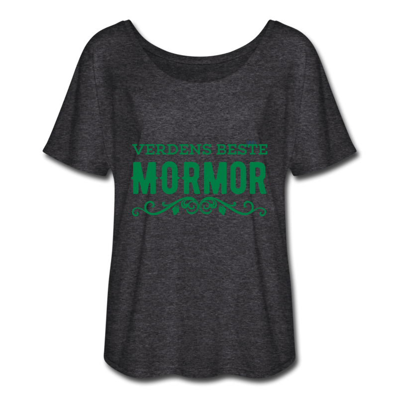 Mormor Women's Flowy T-Shirt - charcoal gray