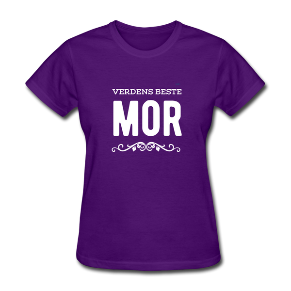 Verdens Beste Mor Women's T-Shirt - purple