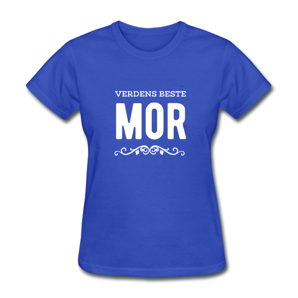 Verdens Beste Mor Women's T-Shirt - royal blue