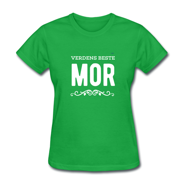 Verdens Beste Mor Women's T-Shirt - bright green
