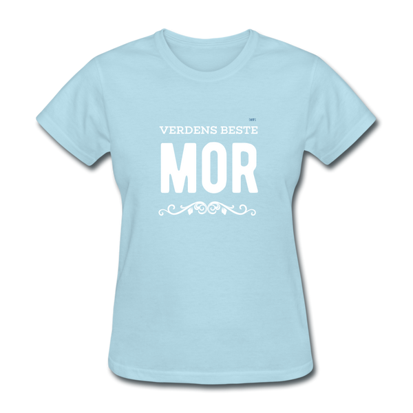 Verdens Beste Mor Women's T-Shirt - powder blue