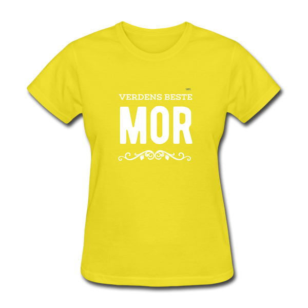 Verdens Beste Mor Women's T-Shirt - yellow