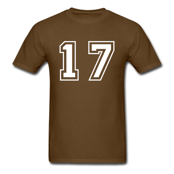 Number 17 Men's T-Shirt - brown
