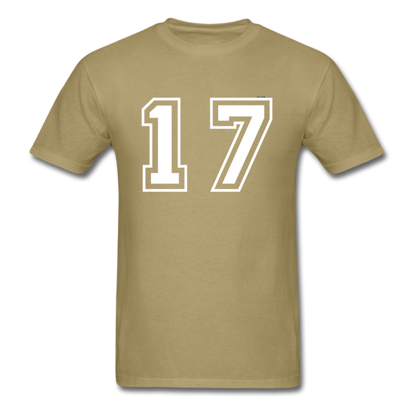 Number 17 Men's T-Shirt - khaki
