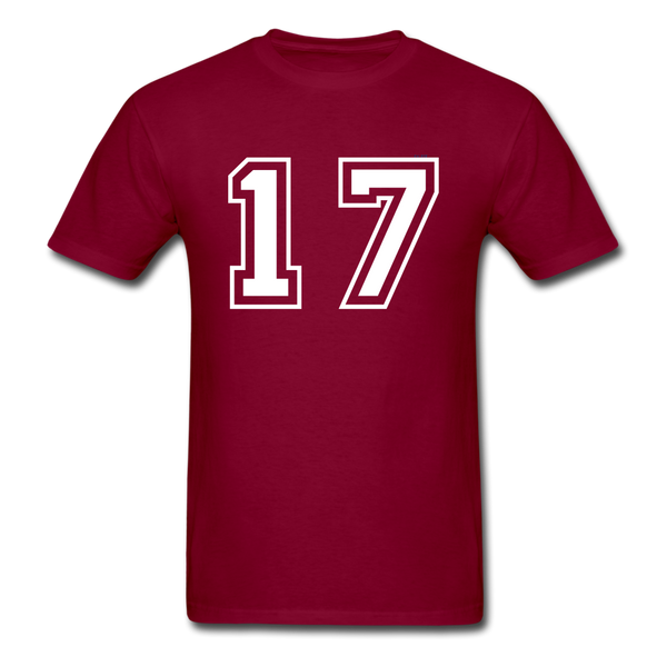 Number 17 Men's T-Shirt - burgundy