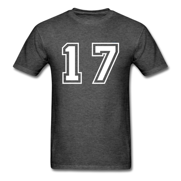 Number 17 Men's T-Shirt - heather black