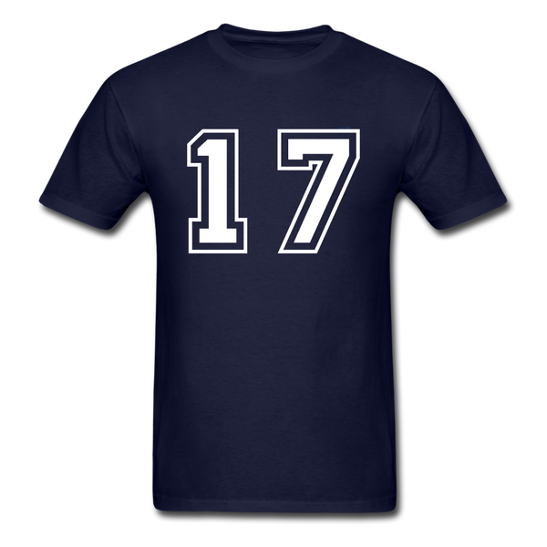 Number 17 Men's T-Shirt - navy