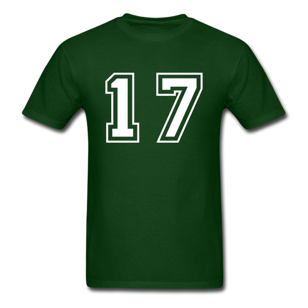 Number 17 Men's T-Shirt - forest green