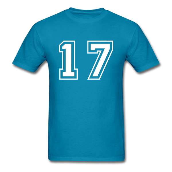 Number 17 Men's T-Shirt - turquoise