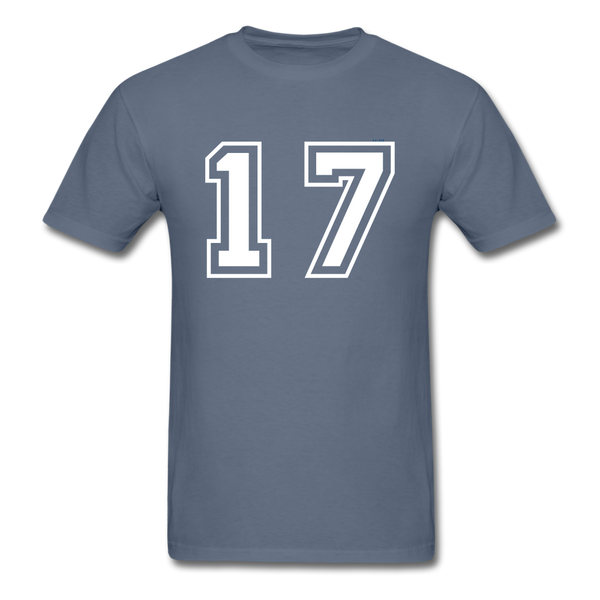 Number 17 Men's T-Shirt - denim