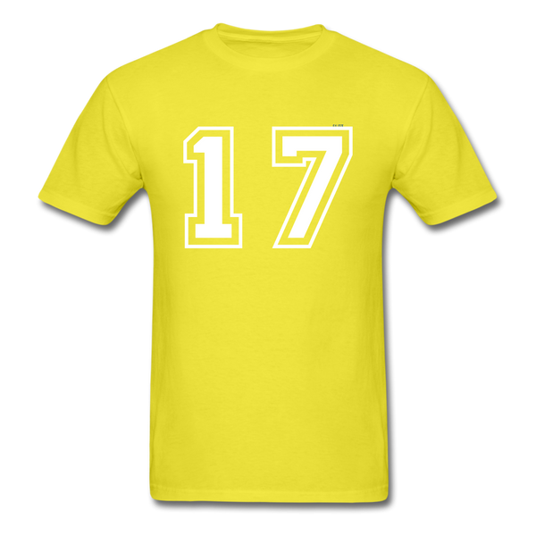 Number 17 Men's T-Shirt - yellow