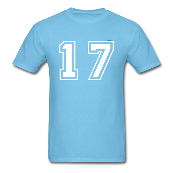 Number 17 Men's T-Shirt - aquatic blue