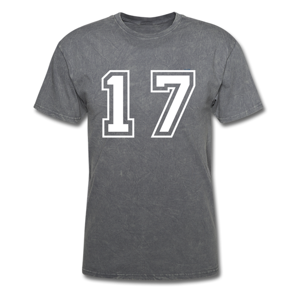 Number 17 Men's T-Shirt - mineral charcoal gray