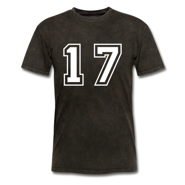 Number 17 Men's T-Shirt - mineral black