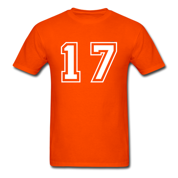 Number 17 Men's T-Shirt - orange