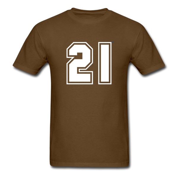 Number 21 Men's T-Shirt - brown