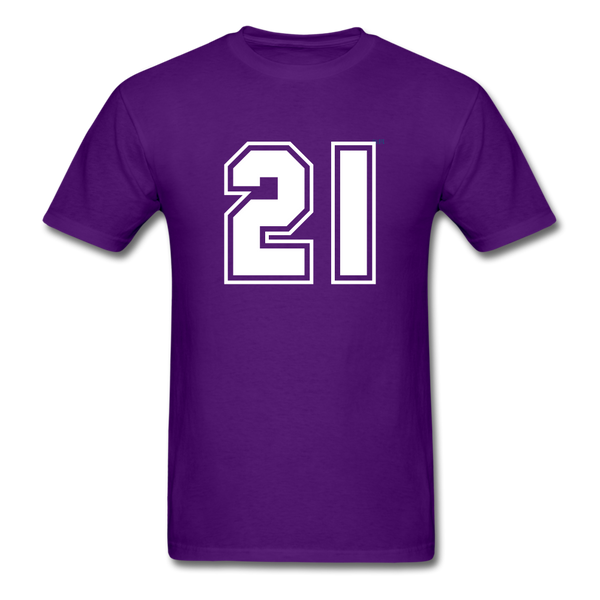 Number 21 Men's T-Shirt - purple