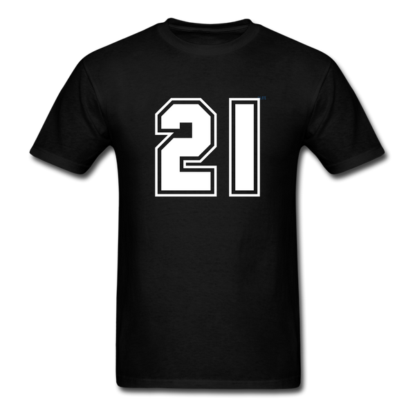 Number 21 Men's T-Shirt - black