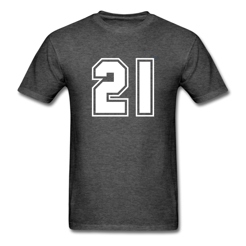 Number 21 Men's T-Shirt - heather black