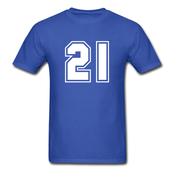 Number 21 Men's T-Shirt - royal blue