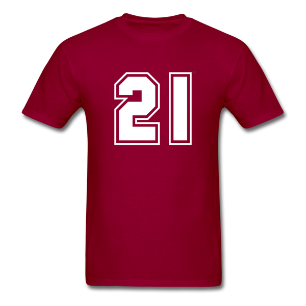 Number 21 Men's T-Shirt - dark red