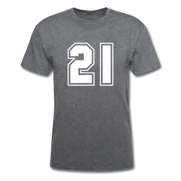 Number 21 Men's T-Shirt - mineral charcoal gray