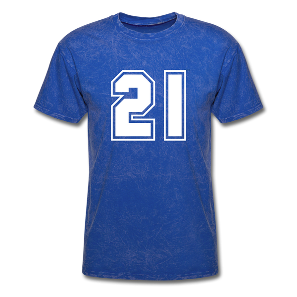 Number 21 Men's T-Shirt - mineral royal