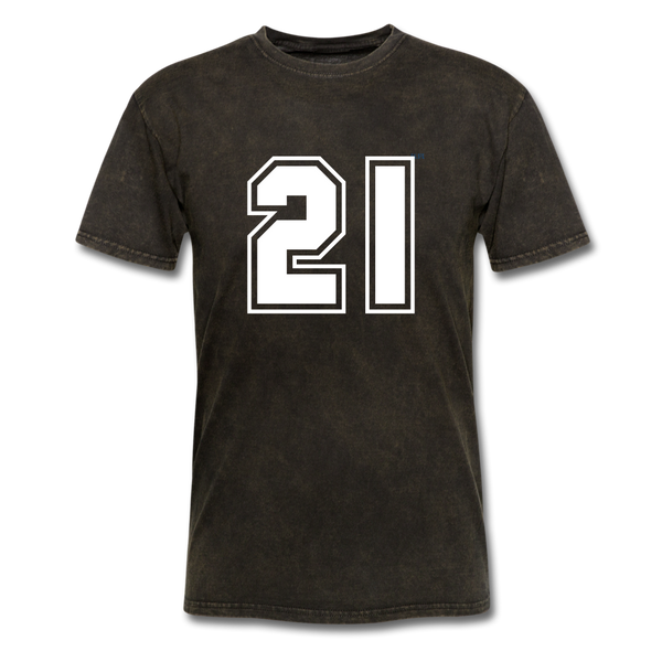 Number 21 Men's T-Shirt - mineral black
