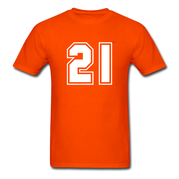 Number 21 Men's T-Shirt - orange